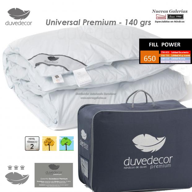 Duvedecor Duvedecor Piumino d´Oca 650 CUIN 140grs | Universal - 1 Trapunta trapuntata universale Universal Premium 140, gamma PR