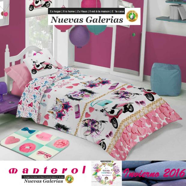 Manterol Kinder-Bettwäsche Manterol | Junior 590 - 1 Bettwäsche Manterol | Junior 590 - Reißverschluss-Cover-Spiel mit Kindermot