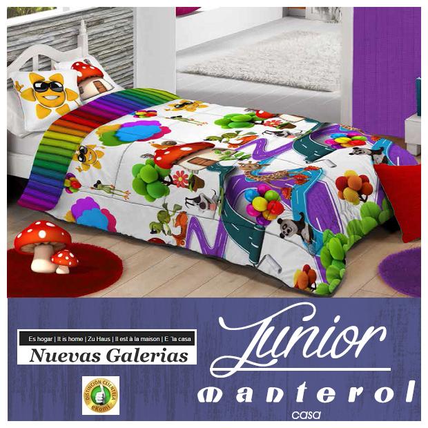 Manterol Kinder-Steppdecken Manterol | 582 - 1 Kinderbettdecke Manterol | 582 Quilt mit Kindermotiven, ideal für die Kleinen im