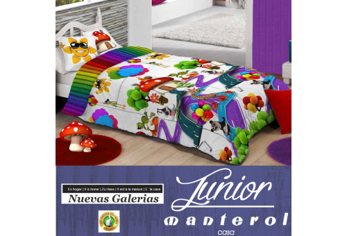 Manterol Edredon Duvet Infantil Manterol | 582 - 1 Edredon Duvet Infantil Manterol | 582Edredon con motivos infantiles ideales