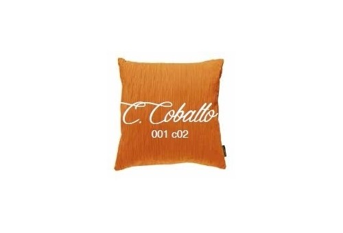 Manterol Cuscini Cobalto 001-02 Manterol - 1 Cuscino di cobalto | Manterol - Cuscino di colore uniforme e con rilievi di varie d