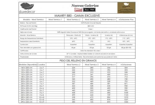 Couette Hiver Mamry 880 100% Duvet D'oie | Duvedecor