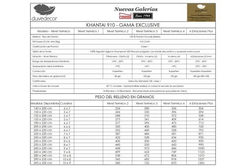 Duvedecor Khantai 910 Sommerhalbjahr | Daunendecke