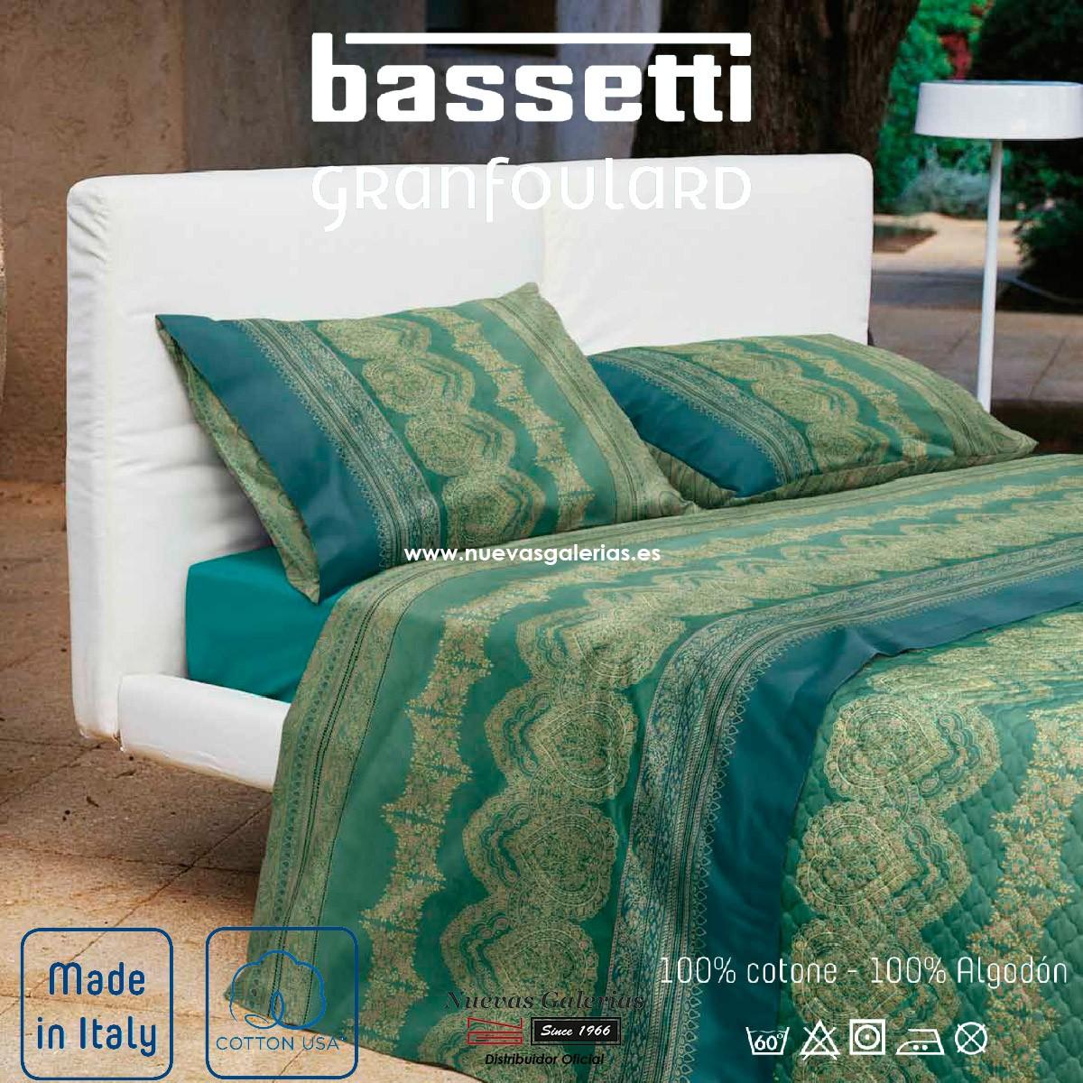 Sommerbettwäsche Bassetti Brunelleschi Grün V4 Granfoulard Nue