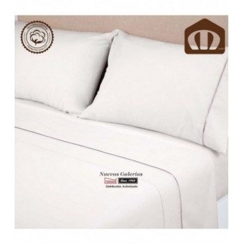 Completo Lenzuola Manterol | Exclusive Bianco - 400 fili in raso 100% cotone
