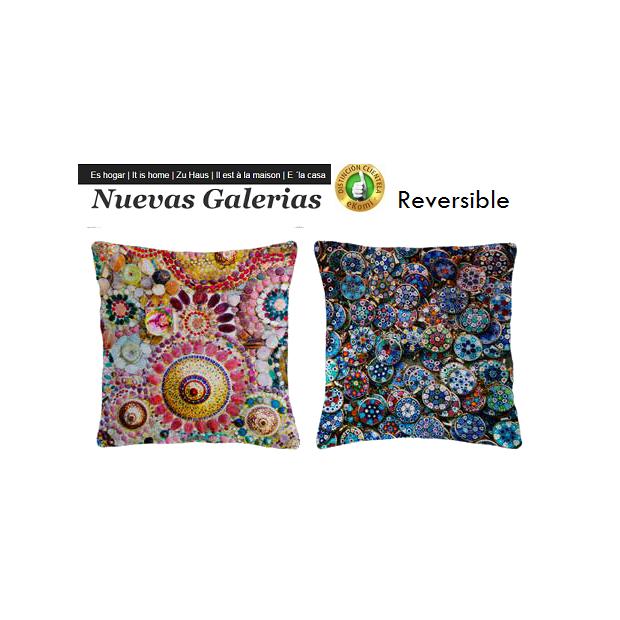 Manterol Cushion Manterol Reversible | Fatum 623 - 1 Manterol Reversible Cushion | Fatum 623 - Cushion of uniform color with rev