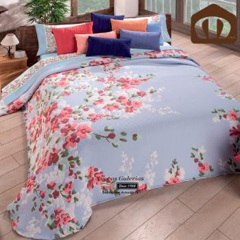 Manterol Bedcover 633 08 | Turandot Blue