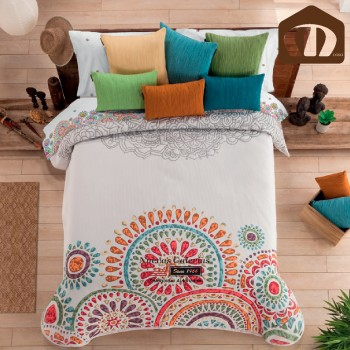 Manterol Bedcover 634 15 | Lakme Orange