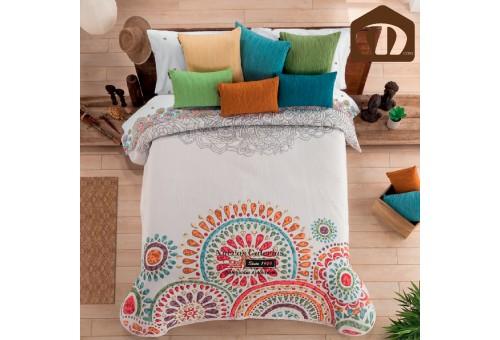 Manterol Manterol Bedcover 634 15 | Lakme Orange - 1 Manterol Bedcover Lakme Orange - 634 15 . Jacquard bedspread of high range