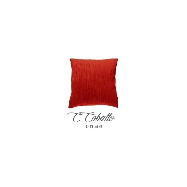 Manterol Cuscini Cobalto 001-03 Manterol - 1 Cuscino di cobalto | Manterol - Cuscino di colore uniforme e con rilievi di varie d
