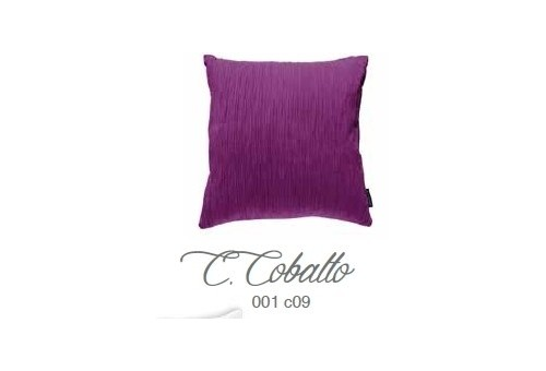 Manterol Cuscini Cobalto 001-09 Manterol - 1 Cuscino di cobalto | Manterol - Cuscino di colore uniforme e con rilievi di varie d