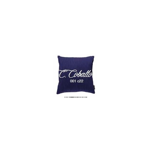 Manterol Cuscini Cobalto 001-22 Manterol - 1 Cuscino di cobalto | Manterol - Cuscino di colore uniforme e con rilievi di varie d