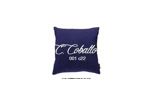 Manterol Cushion Cobalto 001-22 Manterol - 1 Cobalt cushion | Manterol - Cushion of uniform color and with reliefs in various si