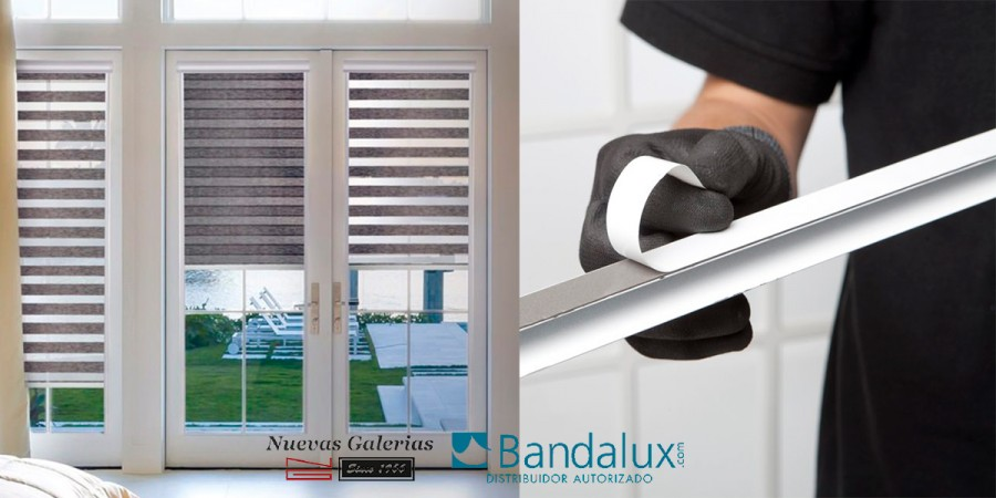 Roller blind night & day Neolux Fit® Adhesive   Bandalux