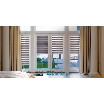 Roller blind night & day Neolux Fit® Adhesive | Bandalux