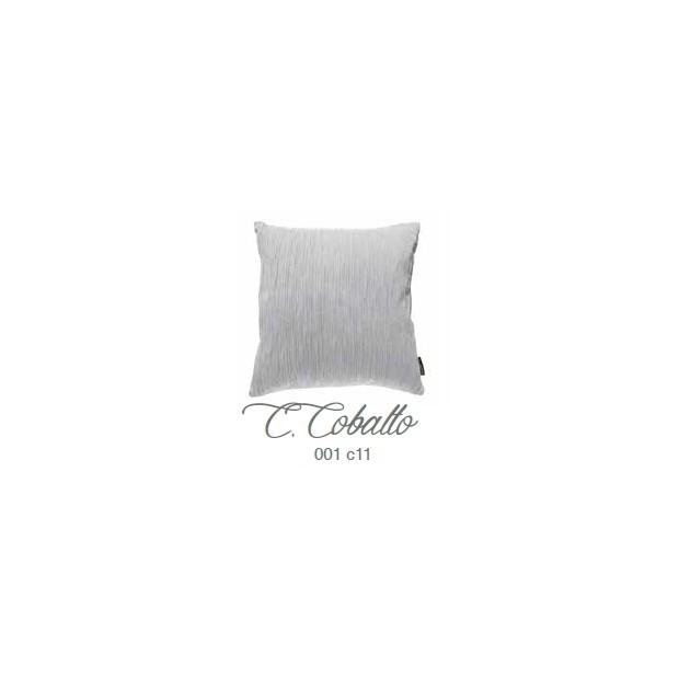 Manterol Cuscini Cobalto 001-11 Manterol - 1 Cuscino di cobalto | Manterol - Cuscino di colore uniforme e con rilievi di varie d