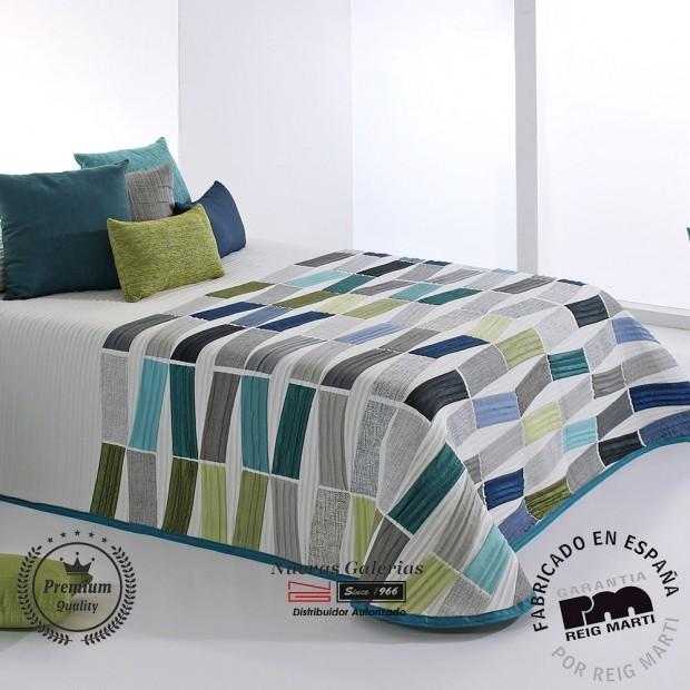 Jacquard bedspread Reig Marti   Celso 03 Blue