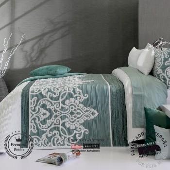 Jacquard bedspread Reig Marti | Chaina 04 Green