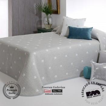 Jacquard bedspread Reig Marti | Kirby 08 Grey