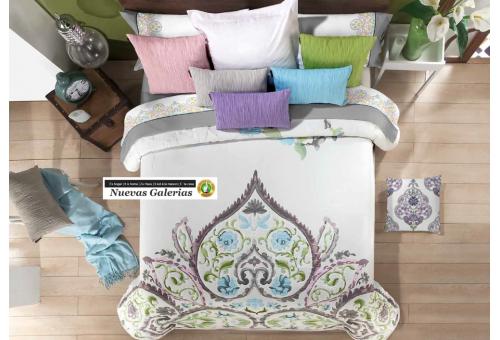 Manterol Manterol Bedcover | Acuarel 618-09 - 1 Manterol bedspread | Acuarel 618-09 Green - Jacquard bedspread of high range and