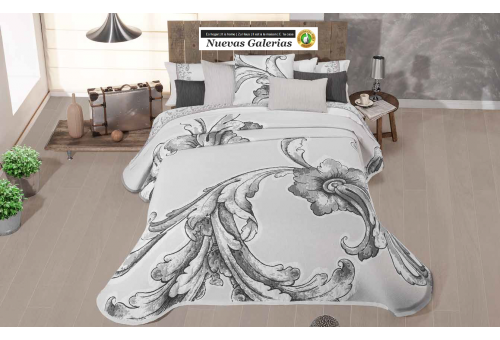 Manterol Manterol Bedcover | Karin 755-01 - 1 Manterol bedspread | Karin 755-01 Gray - Jacquard bedspread of high range and inte