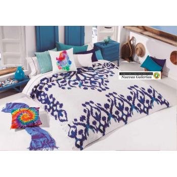 Colcha Manterol | Ikat 622-08 Azul