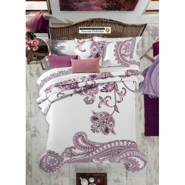 Manterol Manterol Bedcover | Cloe 756-09 - 1 Manterol bedspread | Cloe 756-09 Mallow? - Jacquard bedspread of high range and int