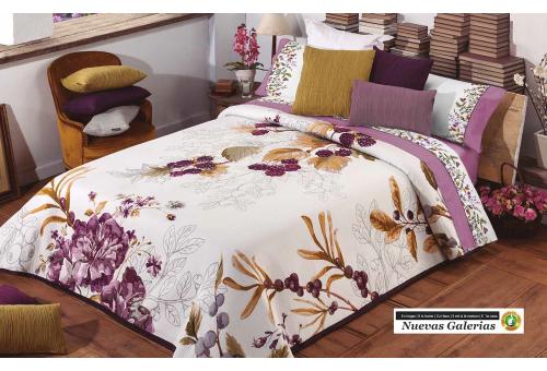 Manterol Manterol Bedcover | Frutas del Bosque 616-09 - 1 Manterol bedspread | Fruits of the Forest 616-09 Malva - Jacquard beds