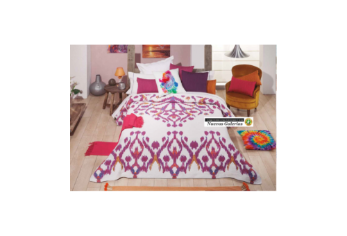 Manterol Manterol Bedcover | Ikat 622-09 - 1 Manterol bedspread | Ikat 622-09 Malva - Jacquard bedspread of high range and inter