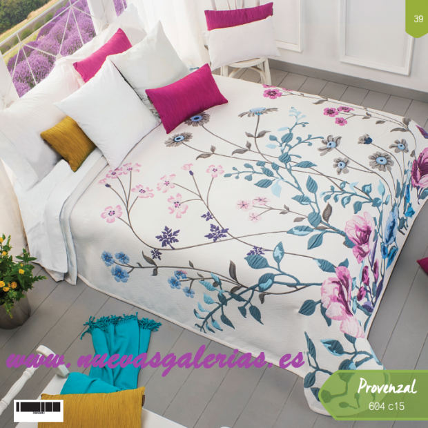 Manterol Manterol Bedcover | Provenzal 604-15 - 1 Provencal bedspread 604-15 | Manterol - Jacquard quilt of high range and inter