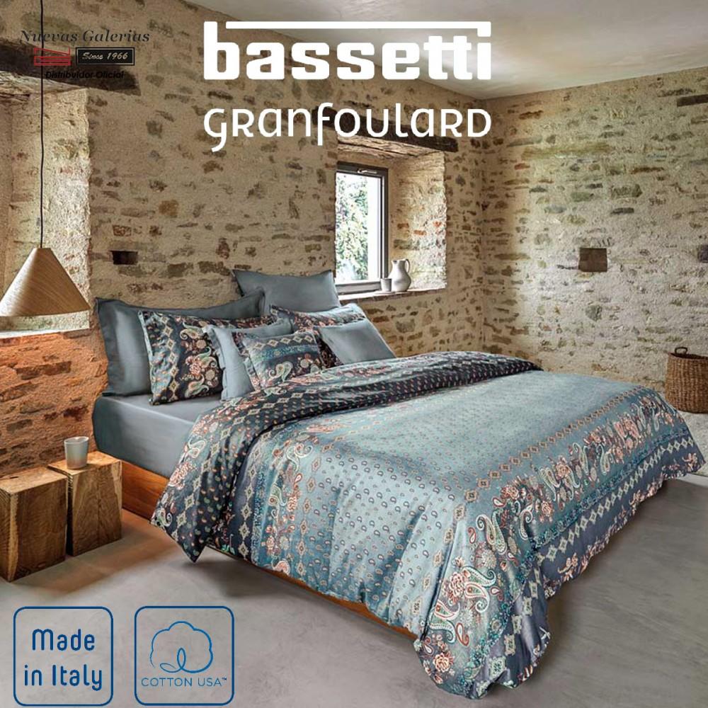 Bassetti Drap Plat pour Lit une place P759 bleu