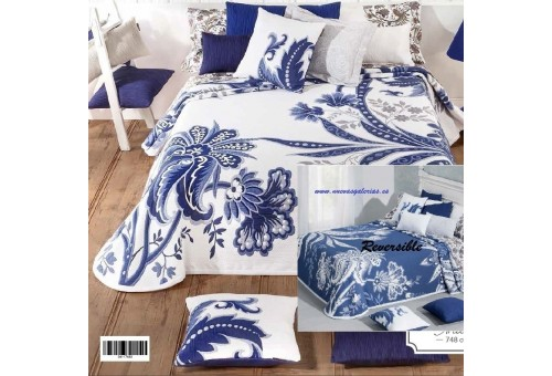 Manterol Manterol Bedcover | India 748-08 - 1 India Reversible Bedspread 748-08 | Manterol - Jacquard quilt of high range and in
