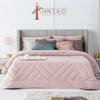 Antilo Steppdecke Samt | Dual Rose
