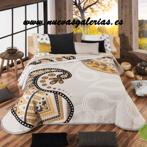 Manterol Colcha Oriente 608-12 | Manterol - 1 Colcha Oriente 608-12| Manterol-Colcha Jacquard de gama alta y grosor intermedi