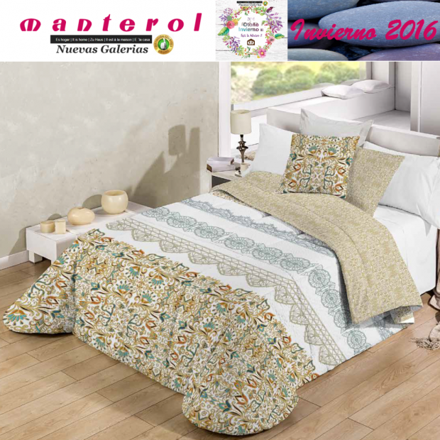 Manterol Quilt Bouti Winter 128-15 | Manterol - 1 Edited by Bouti Winter 128-15 | Manterol - Quilt completely reversible, with t