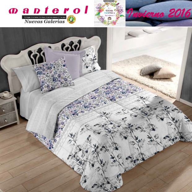 Manterol Quilt Bouti Winter 129-08 | Manterol - 1 Edited by Bouti Winter 129-08 | Manterol - Quilt completely reversible, with t