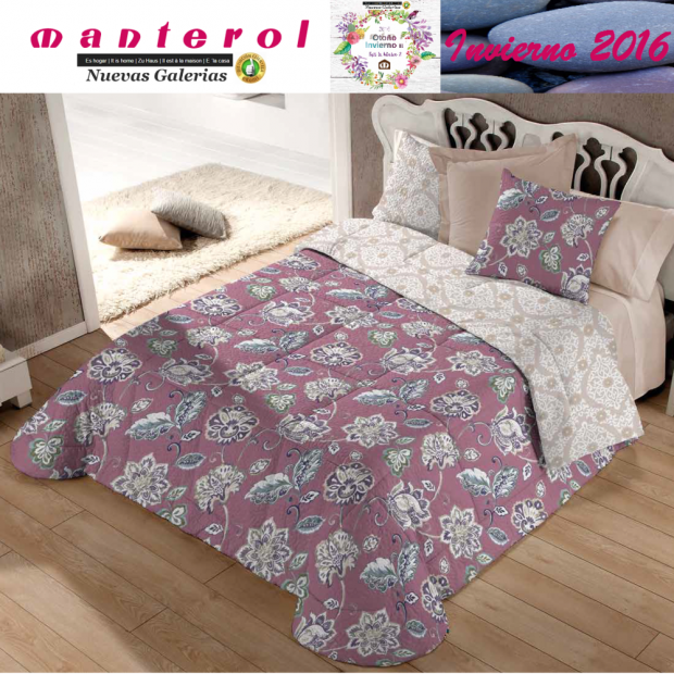 Manterol Quilt Bouti Winter 130-09 | Manterol - 1 Edited by Bouti Winter 130-09 | Manterol - Quilt completely reversible, with t