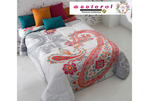 Manterol Edredon Quilt Ankara 147-12 | Manterol - 1 Edredon Quilt Ankara 147-12 | Manterol -Edredón jacquard ideal para los mes