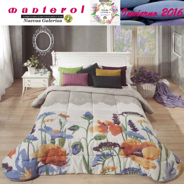 Manterol Quilt Green 152-15   Manterol - 1 Quilt Green Quilt 152-15   Manterol - Jacquard quilt ideal for the winter months. Cer