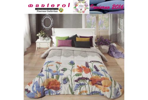 Manterol Edredon Quilt Green 152-15 | Manterol - 1 Edredon Quilt Green 152-15 | Manterol -Edredón jacquard ideal para los meses