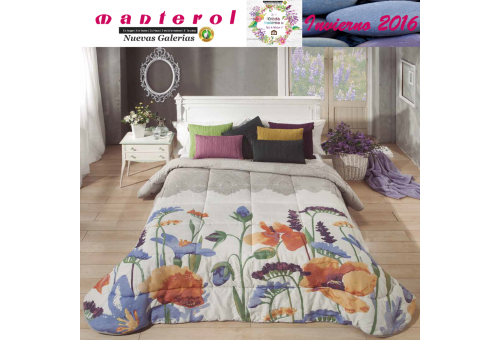 Manterol Quilt Green 152-15 | Manterol - 1 Quilt Green Quilt 152-15 | Manterol - Jacquard quilt ideal for the winter months. Cer