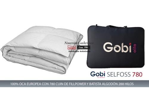 Ferdown Oreiller Naturel Selfoss 100% d´oie 750 CUIN | Ferdown - 1 Almohada100% Oca Blanca Europea | GobiDisponible Firmeza Su