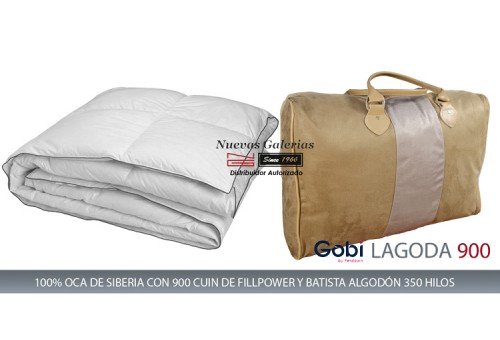 Ferdown Oreiller Naturel Lagoda 100% d´oie 900 CUIN | Ferdown - 1 Almohada 100% Ganso Blanco Europeo | Gobi. Calidad Fillpower 9