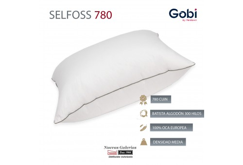 Selfoss Euro Square Down Pillow 750 CUIN | Ferdown