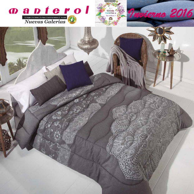 Manterol Edredon Quilt Onur 153-12 | Manterol - 1 Edredon Quilt Onur 153-12| Manterol -Edredón jacquard ideal para los meses d
