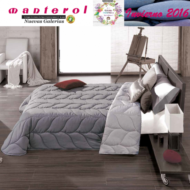 Manterol Trapunte Quilt Espiga 130-12 | Manterol - 1 Quilt Spigot 130-12 | Manterol - Trapunta jacquard ideale per i mesi invern