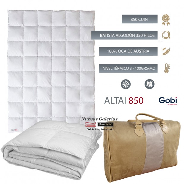 Ferdown Siberian Goose Down Duvet 850 CUIN 100 grs| Ferdown - 1  Down conforter 100% Virgin White Goose from Siberia | Ferdown 1