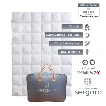 Sergara Premium 750 Fill Power Spring Down Comforter