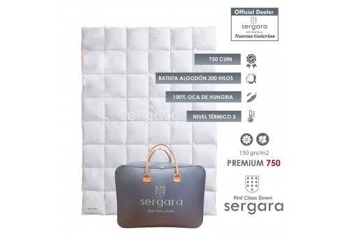 Couette Tempéré Premium 750 100% Duvet D'oie | Sergara