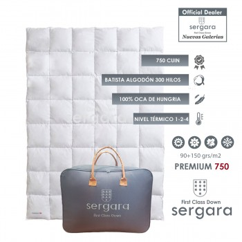 Sergara Premium 750 Fill Power All Seasons Down Comforter
